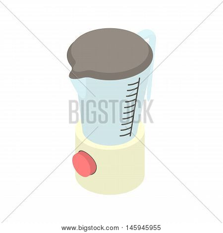 Kitchen blender machine icon in cartoon style on a white background vector illustration