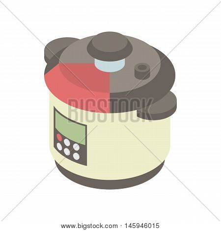 Multi cooker icon in cartoon style on a white background vector illustration