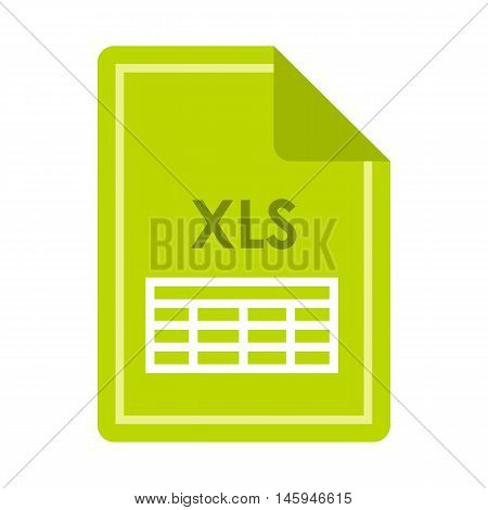 File XLS icon in flat style isolated on white background. Document type symbol vector illustration