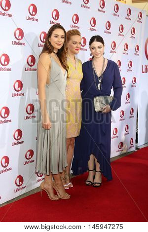 LOS ANGELES - AUG 31:  Troian Bellisario, Jess Weixler, Michelle Trachtenbergs at the
