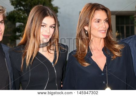 LOS ANGELES - AUG 31:  Kaia Gerber, Cindy Crawford at the