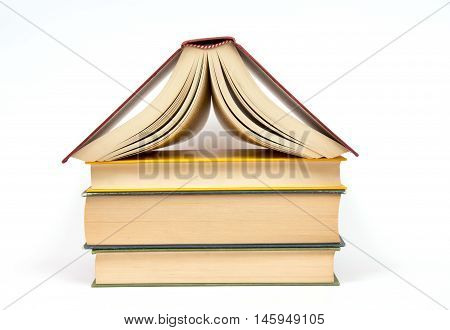Isolated book on white background. Concept of book store