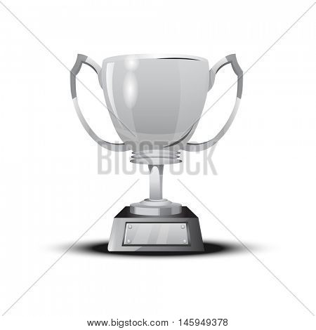 Soccer cup, football championship. Awards for any sporting event, biathlon, ice hockey, tennis, fighting. silver trophy - second place