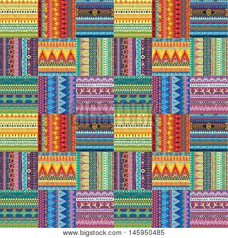 Background with seamless tribal texture