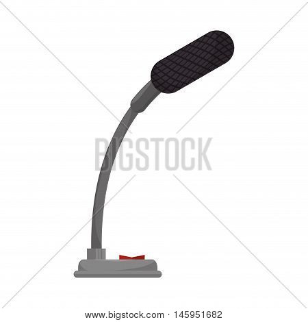 small microphone mic audio mike sound button technology communication vector illustration