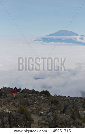 Moshi,tz - Circa  August 2010 - Porters Along The Machame Route On Kilimanjaro