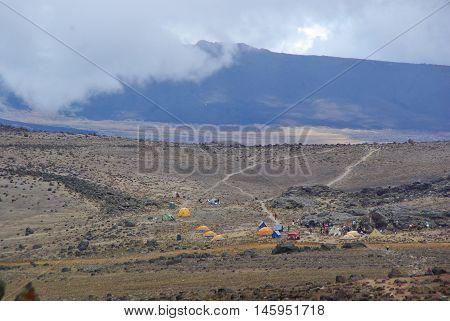 Moshi,tz - Circa  August 2010 - Lava Tower Camp On Kilimanjaro