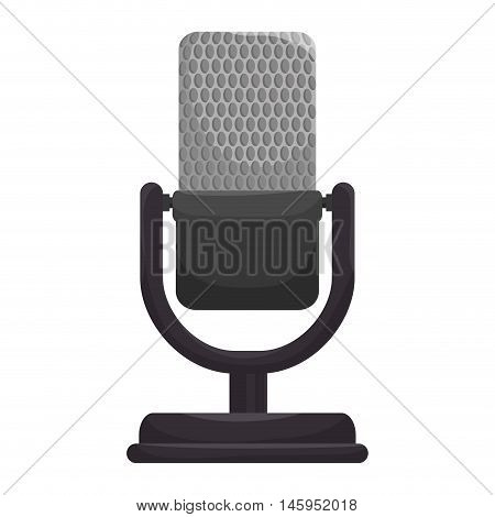 microphone radio mic audio mike sound retro technology communication vector illustration