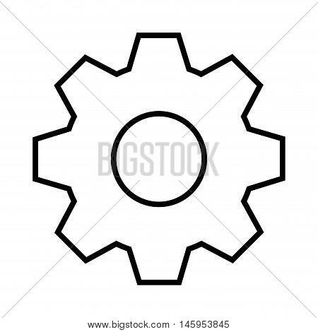 gear cog wheel part transmission mechanism  vector illustration