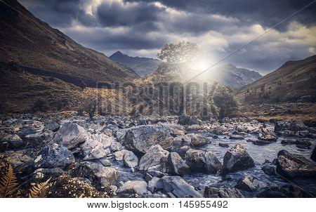Caledonian Spring - Majestic Landscape of Scottish Highlands