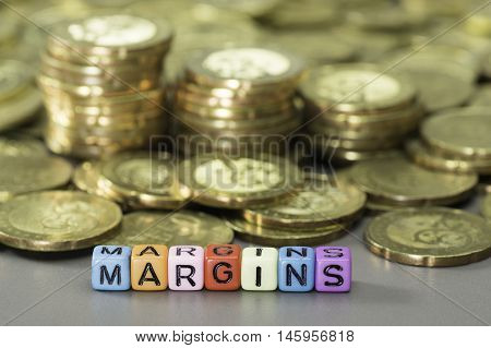 Margin Text And Gold Coins