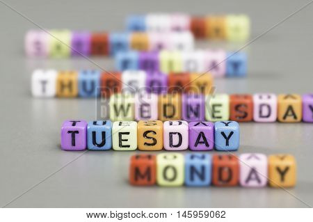 Tuesday Text On Dice