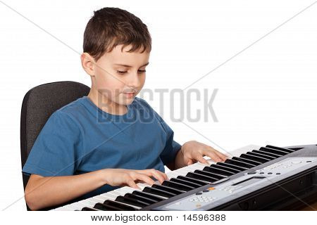 Boy Playing Piano