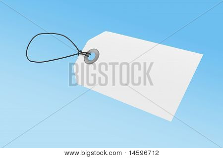 White price tag with clipping path