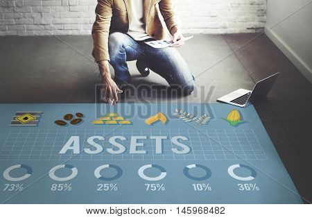 Assets Advantage Benefit Bonus Bookkeeping Concept