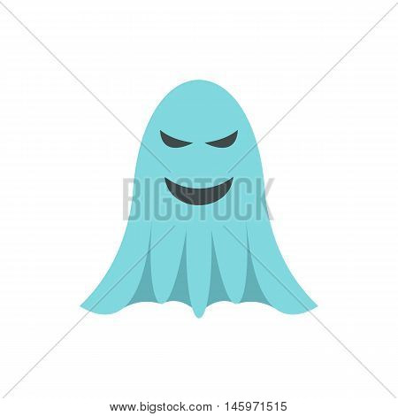 Ghost icon in flat style isolated on white background. Joke symbol vector illustration