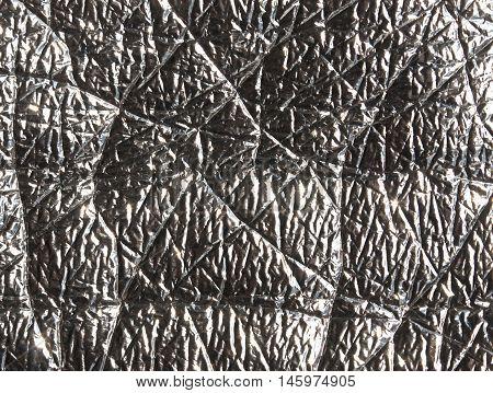 Grey Metal Foil Surface.