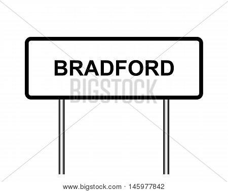 Uk Town Sign Illustration, Bradford