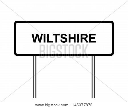 Uk Town Sign Illustration, Wiltshire