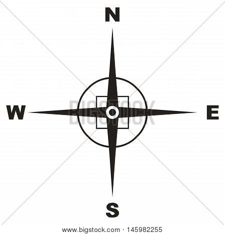 Compass world connection south north rhombus direction