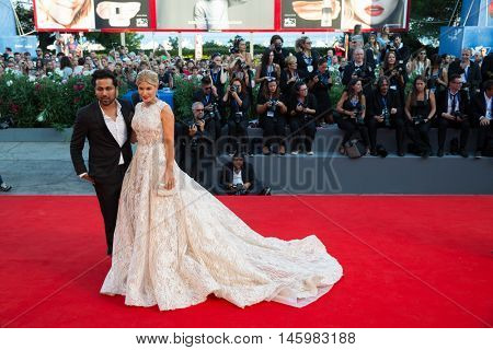Hofit Golan with friend at the premiere of Nocturnal Animals at the 2016 Venice Film Festival. September 2, 2016  Venice, Italy