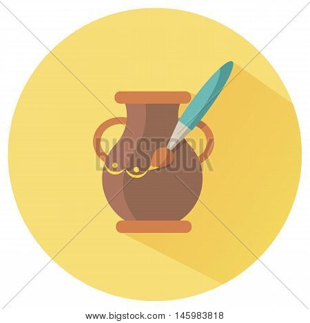 Icon for Hand Made in the form of modeling clay and painting pot