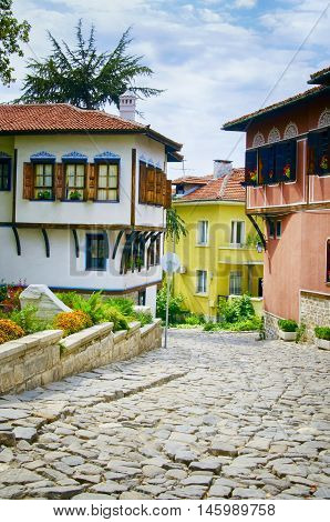 Plovdiv Old Town in Sunny Day Bulgaria