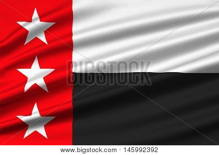 Flag of Laredo is the county of Texas United States. 3D illustration