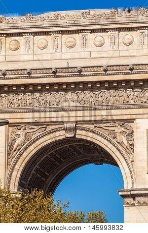 Arc de Triomphe (1808) in Paris France
