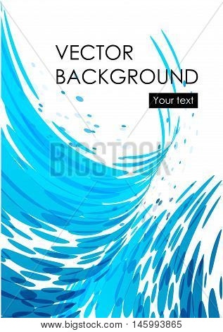 Blue water modern web background, brochure cover