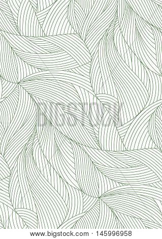 Vector Leaf Veins Closeup Pattern Background, simple realistic portrait