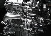 stock photo of internal combustion  - Car engine part  - JPG