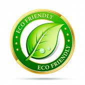 foto of environment-friendly  - eco friendly website icon - JPG