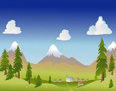 Summer Mountain Village poster