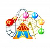 stock photo of ferris-wheel  - Circus - JPG