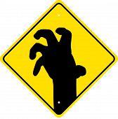 Постер, плакат: зомби предупреждение