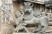 pic of belur  - intricate artwork at ancient hindu temple in Belur Karnataka - JPG