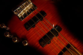 stock photo of ibanez  - An abstract photo of a bass guitar - JPG