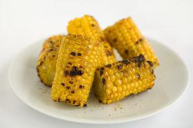 stock photo of sweet-corn  - Yellow Sweet Corn Char Grilled - JPG