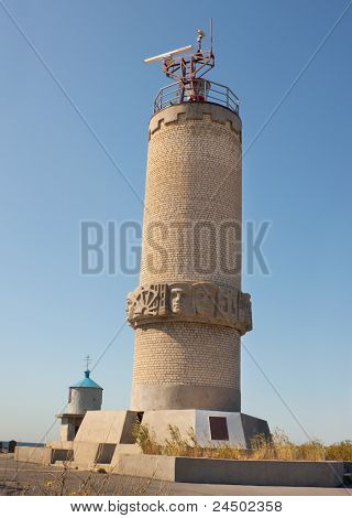 The Lighthouse-a Monument On A Mountain