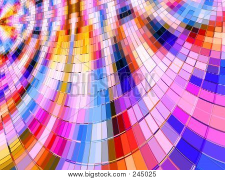 Warped Multi Color Mosaic