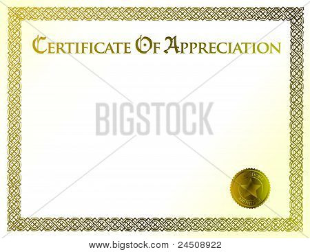 certificate of achievement illustration template