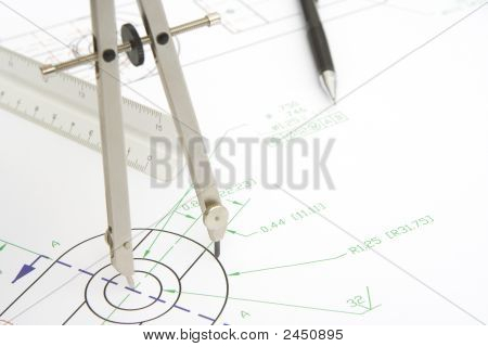 Drawing Circle With A Compass