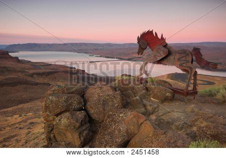 Wild Horse Overlooking Vantage