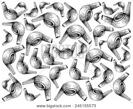 Manufacturing And Industry Hand Drawn Sketch Wall Paper Background