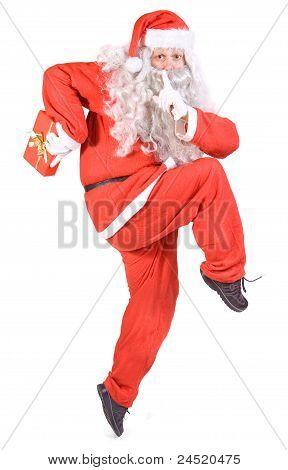 Santa Claus with Chistmas box