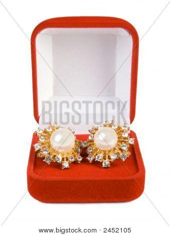 Earrings In Red Box