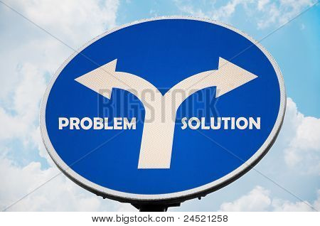 Problem and Solution sign