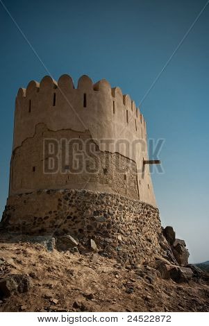 Minaret of Ancient Mosque at Al Bidyah