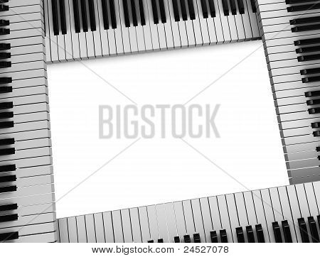 Piano Keys Frame